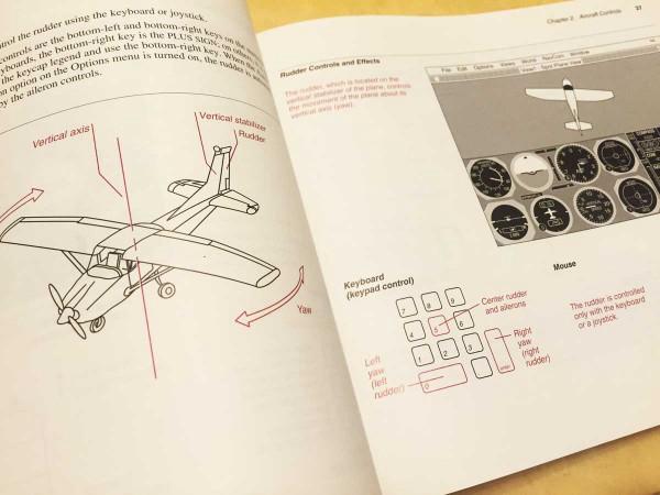 1990年代的「模擬飛行」手冊。