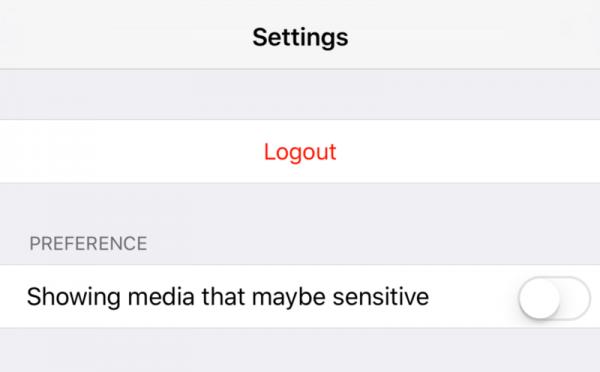 在App設定中,加上「顯示可能含有敏感資料的推文」。